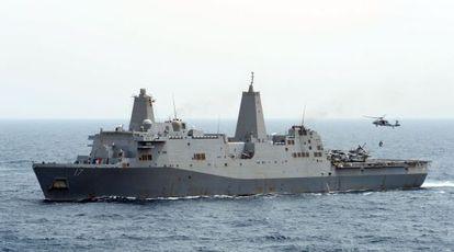 El buque de la Armada, USS San Antonio, donde está siendo interrogado Al Libi, a la espera de ser trasladado a Nueva York