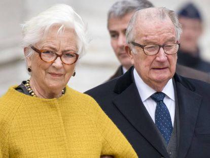El rey emérito de Bélgica, Alberto II, y su esposa Paola.