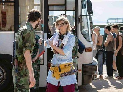 Jasmila Zbanic, en el rodaje de 'Quo Vadis, Aida?'.