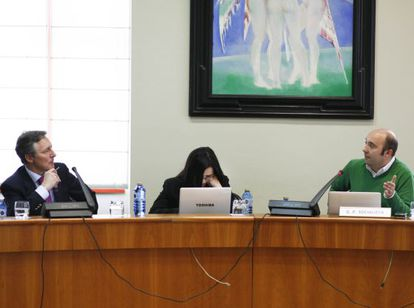 Gonzalo Ordóñez (izquierda) y José Manuel Lage (derecha) durante la sesión.