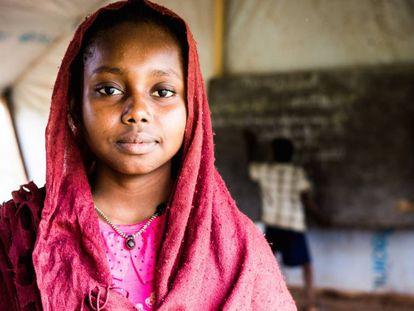 Una niña chadiana del campo de refugiados de Danamadja, en 2017.