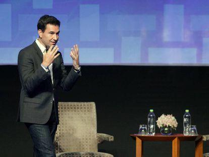 Diego Dzodan durante la ceremonia de clausura de la cumbre de la APEC.