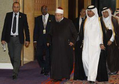 Qaradawi, a finales de febrero en Doha (Catar).