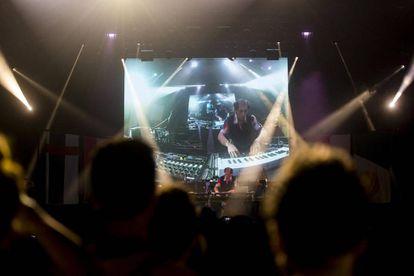 El artista francés Jacques durante su actuación en Sónar 2017