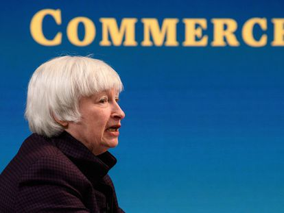 La secretaria del Tesoro de EE UU, Janet Yellen, a principios de febrero en Washinton.
