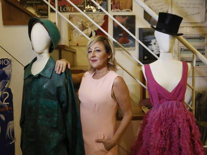 Carmen Machi, en la librería Ocho y Medio.