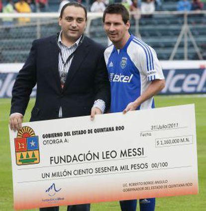 Messi, en un amistoso en Ciudad de México en 2011.