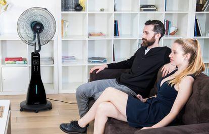El ventilador nebulizador 'Forcesilence 690' se puede utilizar tanto en interiores como exteriores.
