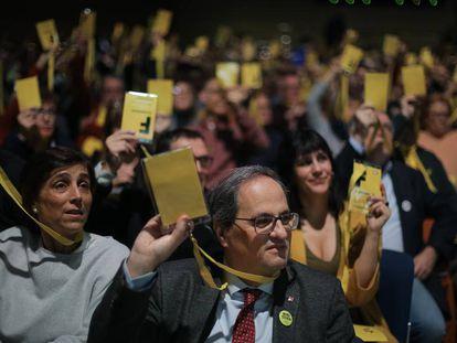 El presidente de la Generalitat, Quim Torra, en la fundación de la Crida.