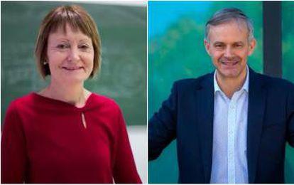Mavi Mestre y Vicent Martínez, los dos candidatos que se medirán en segunda vuelta.