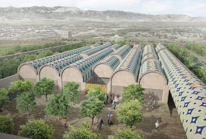 Recreación virtual de lo que será el Museo Nacional de Afganistán, según el proyecto del estudio barcelonés AV62.
