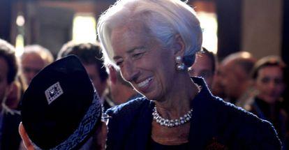 Christine Lagarde, directora gerente del FMI, el jueves en Bali (Indonesia), donde se celebra la reunión anual del organismo y del Banco Mundial.