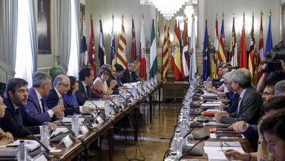 Reunión del comité preparatorio, de impulso y de seguimiento de la Conferencia de Presidentes el mes pasado en Madrid.