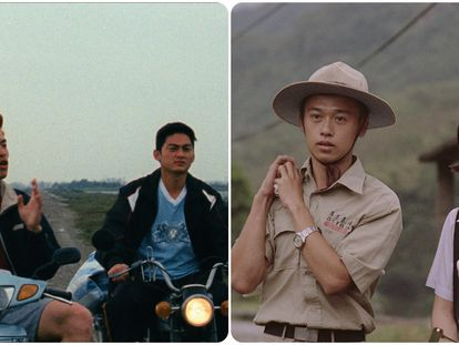 Tomas de las películas taiwanesas 'Ohong Village' (2019) y 'Dust in the wind' (1986).